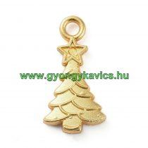 Arany Színű Karácsonyfa Medál Karácsonyfa Dísz 20,5x11mm