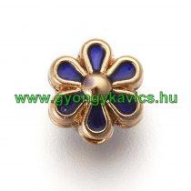 Arany Kék Színű Tűzzománc Virág Nyaklánc Karkötő Ékszer Dísz Közdarab Köztes 6mm
