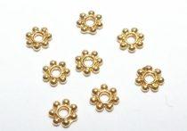 Arany Színű Virág Nyaklánc Karkötő Ékszer Dísz Közdarab 4mm