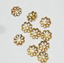 Arany Színű Virág Gyöngykupak Nyaklánc Karkötő Ékszer Dísz Közdarab 6,8mm