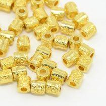 Arany Színű Nyaklánc Karkötő Ékszer Dísz Közdarab Köztes Charm 5,8x6,3mm