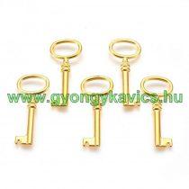 Arany Színű Kulcs Medál Köztes 41x17mm
