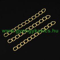 Arany Színű Kulcstartó Karkötő Lánc 5cm