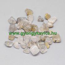 Arany Rutilkvarc Kvarc (1) Ásványtörmelék Marokkő 8-20x5-10x1-7mm 20g