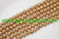 Arany Lávakő Ásványgyöngy 6mm