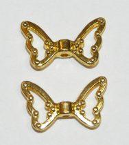 Arany Színű Lepke Pillango Nyaklánc Karkötő Ékszer Dísz Közdarab Köztes 17x10mm
