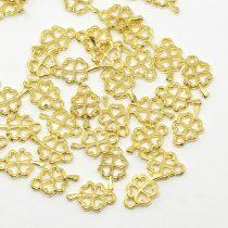 Arany Színű Lóhere Medál Köztes 10x6mm