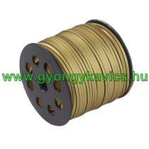Arany Színű (8) Műbőr Szál 2,7x1,4mm 1m