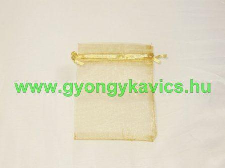 Arany Organza Díszzacskó Dísztasak 10x15cm
