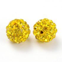 Arany Színű (2) FÜLBEVALÓ ALAP (félig átfúrt) Ékszer Dísz Polymer Polimer Shamballa Strassz Kövekkel 8mm
