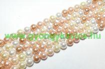 Arany Rózsaszín Színes (2) Kagyló Gyöngy 6mm