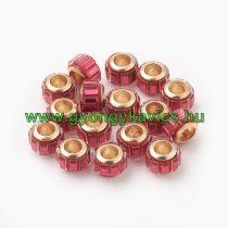 Arany Színű Charm Nyaklánc Karkötő Ékszer Dísz Köztes Rózsaszín Strassz Kövekkel 10x7mm