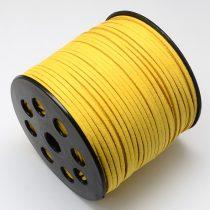 Aranysárga (130) Műbőr Velúr Szál 3mm 1m