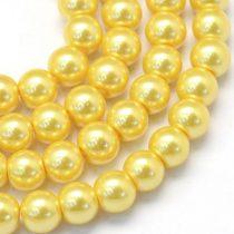 Arany Színű Szintetikus Kagyló Gyöngy 8mm