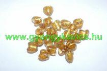 Arany Szív Üveggyöngy 12x8mm