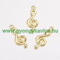 Arany Színű Violinkulcs Medál 26x10mm