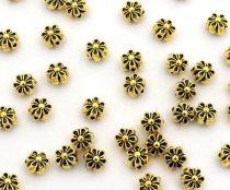 Arany Színű Virág Nyaklánc Karkötő Ékszer Dísz Közdarab Köztes 6mm