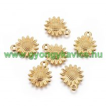Arany Színű Virág Medál 18,6x15mm