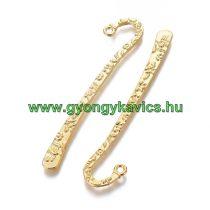 Arany Színű Virágos Könyvjelző 8cm