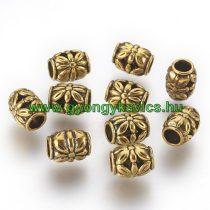 Arany Színű Virágos Charm Köztes 8,5x10,5mm