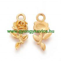 Arany Színű Virág Rózsa Medál Köztes 21x10,5mm