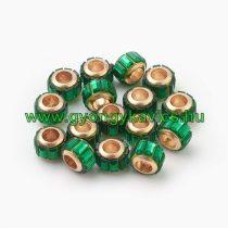 Arany Színű Charm Nyaklánc Karkötő Ékszer Dísz Köztes Zöld Strassz Kövekkel 10x7mm