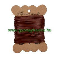 Barna (10) Bőrszál 2mm 1m