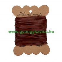 Barna (9) Bőrszál 1mm 1m