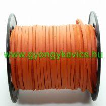 Barna Narancs (6) Műbőr Szál 2,7x1,4mm 1m