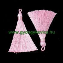 Ékszer Nyaklánc Bojt 8,5cm Hosszú Rózsaszín (2)
