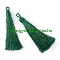 Ékszer Nyaklánc Bojt 8,5cm Hosszú Sötétzöld Zöld