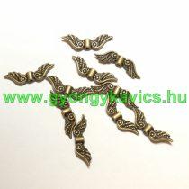 Bronz Színű Angyalszárny Nyaklánc Karkötő Ékszer Dísz Közdarab Köztes 7x22mm