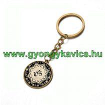 Bronz Színű Aum Ohm (7) Kulcstartó Karika 25x80mm