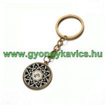 Bronz Színű Aum Ohm Mandala (4) Kulcstartó Karika 25x80mm