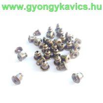 Bronz Színű Fülbevaló Dugó 5x5mm Lyuk 1mm
