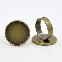Bronz Színű Kaboson Tartó Állítható Gyűrű Alap 20mm