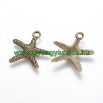 Bronz Színű Tengeri Csillag Medál 19x19,5mm