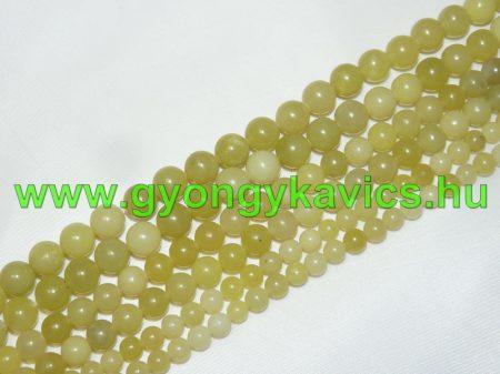 Citrom Jade Ásványgyöngy Gyöngyfüzér 10mm