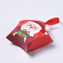Csillag Alakú Mikulás Karácsonyi Díszdoboz Ékszerdoboz Ajándékdoboz 12x12x4cm