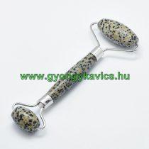 Dalmata Jáspis Ezüst Színű Masszázs Henger, Masszírozó Görgő