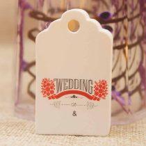 Árazócimke Ékszercimke Esküvő Wedding Fehér 50x30mm