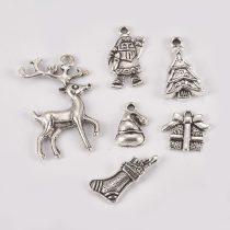 Ezüst Színű Ajándékcsomag Medál Karácsonyfa Dísz 15x16mm
