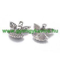 Ezüst Színű Angyal Medál 21x23mm