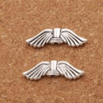 Ezüst Színű Angyalszárny Nyaklánc Karkötő Ékszer Dísz Közdarab Köztes 20,7x6,3mm