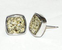 Ezüst Színű Arany Kristály Műgyanta Fülbevaló