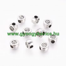 Ezüst Színű Aum Ohm Charm Köztes 9,5x5,5mm