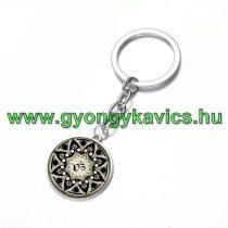 Ezüst Színű Aum Ohm Mandala (5) Kulcstartó Karika 25x80mm