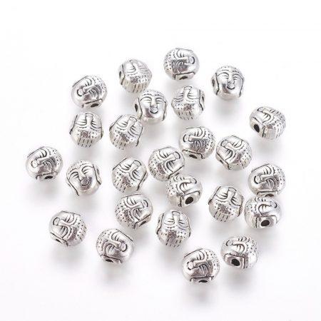 Ezüst Színű Buddha Nyaklánc Karkötő Ékszer Dísz Közdarab Köztes 8mm