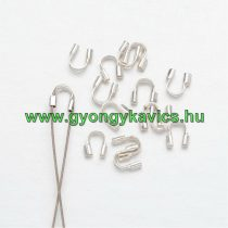 Ezüst Színű Nyaklánc Karkötő Ékszer Damilvédő 4x5mm