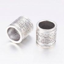 Ezüst Színű Díszes Charm Gyűrű Nyaklánc Karkötő Ékszer Dísz Köztes 14x13mm